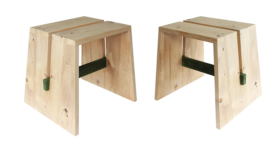 tabouret la femme du bucheron. Black Bedroom Furniture Sets. Home Design Ideas